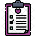 Dirt Chart Health Report Clipboard Icon