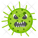 Microorganism Dirty Germs Scary Bacteria Icon