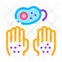 Bacteria Dirty Hand Icon