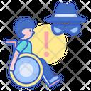Disability Fraud Disability Thief Fraud Icon