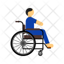 Disabled Person Wheel Chair Icon