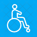 Disabled Person Patient Icon