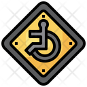 Disabled Regulation Road Signs Icon