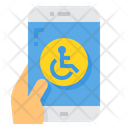 Disabled Smartphone Mobile Icon