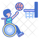 Disabled Basketball Player Icon