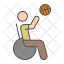 Wheelchair Basketball Ball Icon