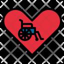 Wheelchair Handicap Heart Icon