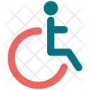 Disabled Man Sign Icon