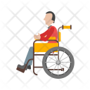 Man Disabled Sitting Icon
