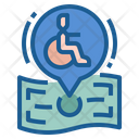 Disabled Person Support Icon