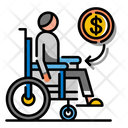 Disablement Benefit Insurance Accident Compensation Icon