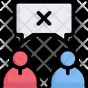 Network Communication Disagreement Icon