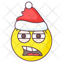 Disappointed Santa Emoji Disappointed Expression Emotag Icon