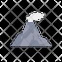 Disaster Volcano Lava Icon