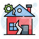 City Disaster Earthquake Icon