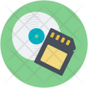 Disc Memory Card Icon