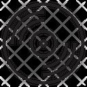 Turntable Audio Disc Icon
