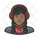 Disc Jockey Black Female Disc Jockey Icon