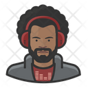 Disc Jockey Black Male Disc Jockey Icon