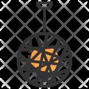 Disco Light Chandelier Icon