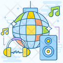 Disco Night Club Dance Area Icon