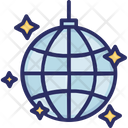 Disco Light Ball Party Decoration Icon