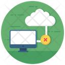 Offline Symbol Cloud Crossed Internet Disconnected Icon