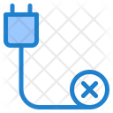 Disconnected Hardware Cord Icon