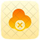 Disconnected Cloud Storage Icon