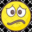 Discontent Emoji Discontent Expression Emotag Icon