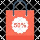 Discount Bag Shopping Icon