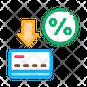 Discount Percentage Card Icon