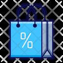 Shopping Bag Discount Icon