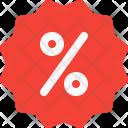 Percent Discount Sticker Icon
