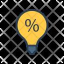 Discount Bulb Sale Icon