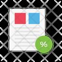 Discount Sale Invoice Icon