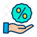 Discount Offer Hand Percentage Icon