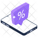Discount App Discount Chat Discount Message Icon