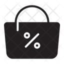 Discount Bag Sale Cyber Monday Icon