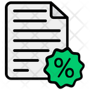 Discount Bill Cargo Bill Receipt Icon
