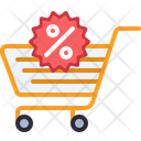 Discount Cart Sale Cart Shopping Discount Icon