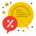 Bubble Chat Discount Icon