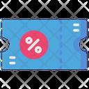Ticket Coupon Voucher Icon