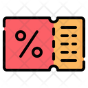 Coupon Voucher Gift Icon
