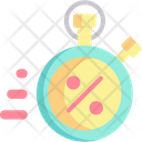 Discount Sale Time And Date Icon