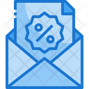 Discount Email Email Message Icon