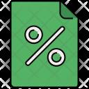 Portrait Percentage Discount Icon