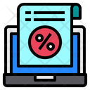 Laptop Accounting Discount Icon