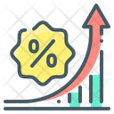 Discount Growth Rate Increase Increase Icon