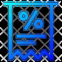 Discount Invoice Icon